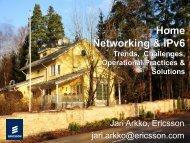 Home Networking with IPv6 - Jari Arkko