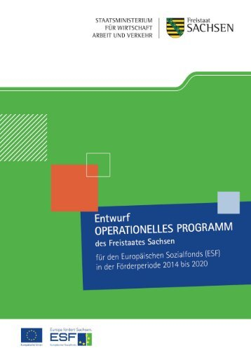 Programmentwurf ESF 2014 - 2020 [Download,*.pdf, 2,02 MB]