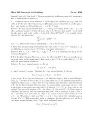 Math 335 Homework #4 Solutions Spring, 2011 Assigned March 21 ...