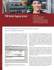 TRM Safety Tagging System™ - Total Resource Management