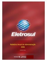 Relatório Anual da Administração 2006 - Eletrosul