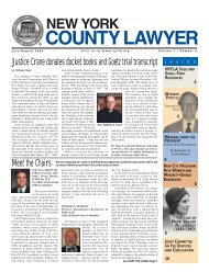 July/August 2006 New York County Lawyer