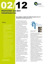 Nachrichten aus dem Industrieservice 02 2012 - WVIS ...