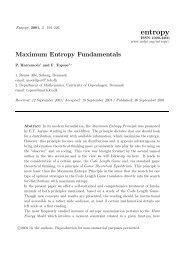 Maximum Entropy Fundamentals - MDPI.com