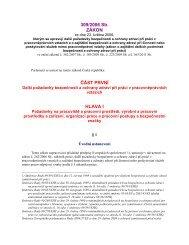 zákon č. 309/2006 Sb., kterým se upravují další požadavky ...