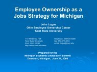 Employee Ownership as a Jobs Strategy for Michigan