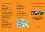 Das persönliche Budget - Sozial-Betriebe-Köln