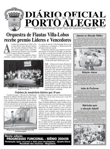 diário oficial porto alegre - Procempa