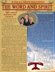 July/August 2012 Newsletter - Randall Grier Ministries