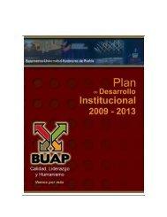 Plan de Desarrollo Institucional 2009-2013 - Transparencia
