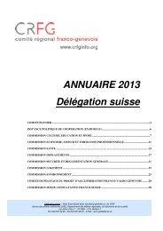ANNUAIRE 2013 Délégation suisse - CRFG