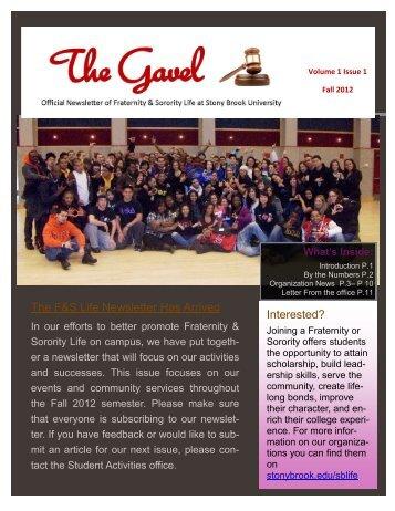Fall 2012 - Student Affairs - Stony Brook University