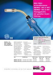 MIG/MAG Schweißbrenner ABIMIG® 401 D WT/ ABIMIG® 501 D WT ...