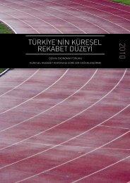 türkiye'nin küresel rekabet düzeyi - REF - Sabancı Üniversitesi