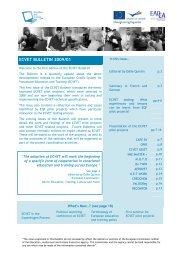 ECVET BULLETIN 2009/01 - ECVET-TEAM