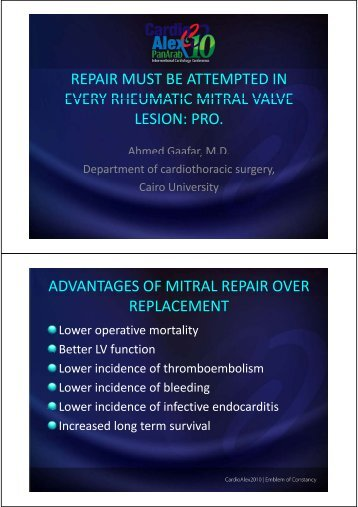 repair must be attempted in every rheumatic mitral valve every ...