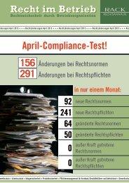 April-Compliance-Test! - RACK rechtsanwaelte