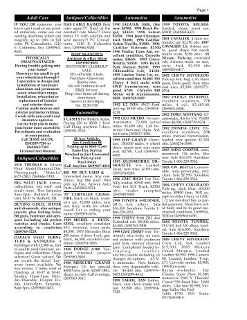 3/25/10 classifieds - Battle Creek Shopper News