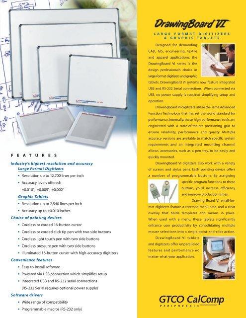 GTCO CALCOMP DRAWINGBOARD VI WINDOWS 8 X64 TREIBER