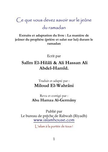 ce que vous devez savoir sur le jeûne du ramadan - Fichier PDF