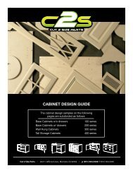 CABINET DESIGN GUIDE 200 SERIES - C2sparts.com