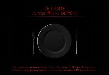 Recettes de fêtes - L'Opera Restaurant