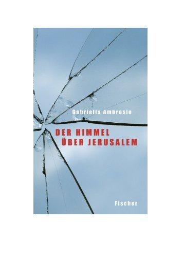 Der Himmel über Jerusalem - S. Fischer Verlag