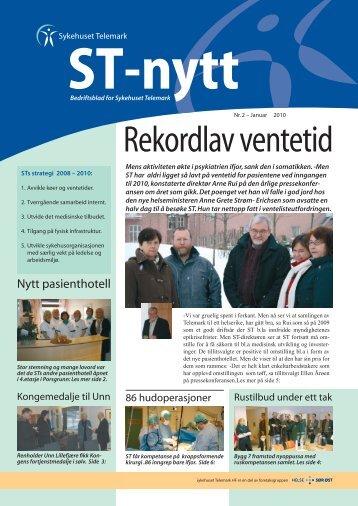 ST-nytt nr. 2, 2010 - Sykehuset Telemark