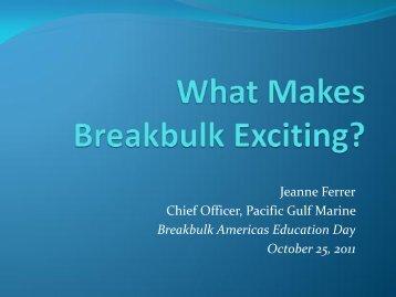 What Makes Breakbulk Exciting?
