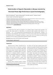 Determination of Saponin Glycosides in Bacopa monnieri by ...