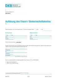 Auflösung des Einzel-/ Gemeinschaftskontos - DKB