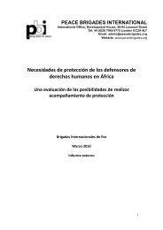 2010_Africa PBI external report - SPANISH - Peace Brigades ...