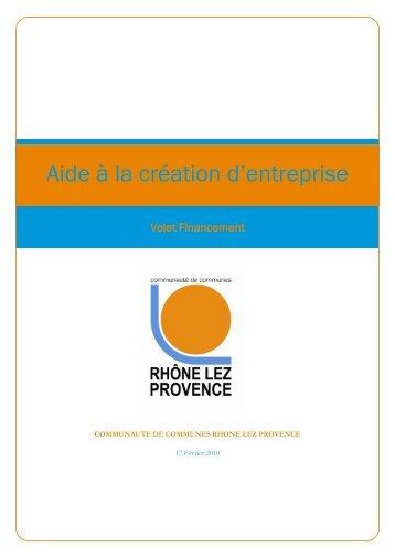 Aide à la création d'entreprise - Communauté de Commune Rhone ...
