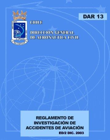 DAR 13 - Dirección General de Aeronáutica Civil