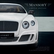 The limited wide body customization programme for your ... - Mansory