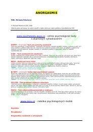 ANORGASMIE - Psychotesty