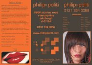 here - Philip Politi Hairdressing, Edinburgh.