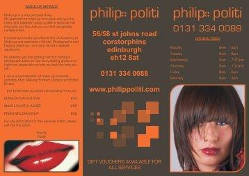 here - Philip Politi Hairdressing, Edinburgh.