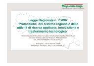 Legge Regionale n. 7/2002 'Promozione del ... - Confindustria IxI
