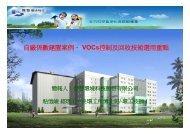 自廠係數建置案例、 VOCs控制及回收技術選用重點