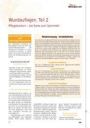Wundauflagen, Teil 2 - Werner Sellmer