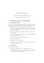 TP R sur l'estimation - Inra