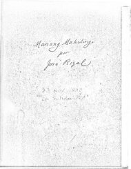 Mariang Makiling by Jose Rizal, 1968 Arnold H. Warren translation