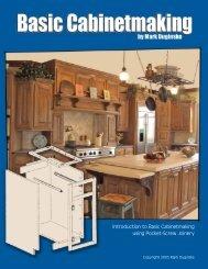 Introduction to Basic Cabinetmaking using Pocket-Screw ... - Kreg Tool