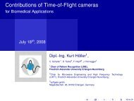 Contributions of Time-of-Flight cameras - for Biomedical Applications