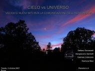 Cielo vs Universo. Vecchi e nuovi miti per la comunicazione dell ...
