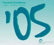 Towards Excellence 2005 - Education, Culture and Employment ...