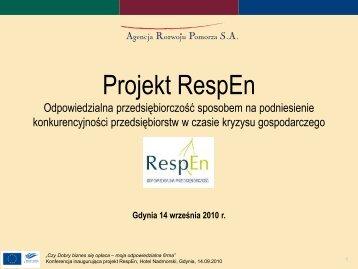 Prezentacja ARP S.A. - Agencja Rozwoju Pomorza SA