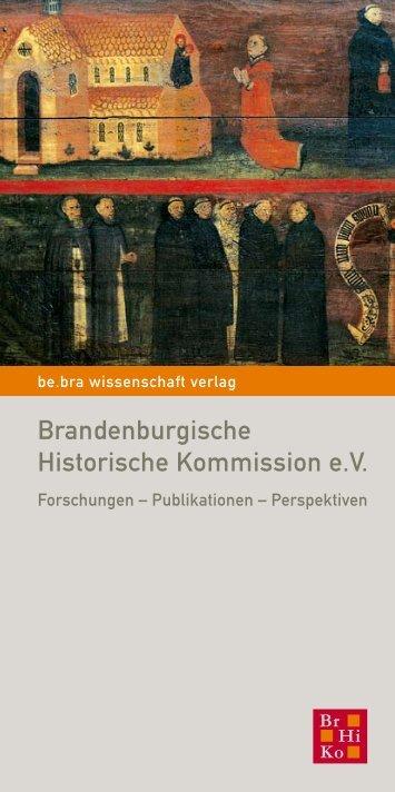 Brandenburgische Historische Kommission e.v.