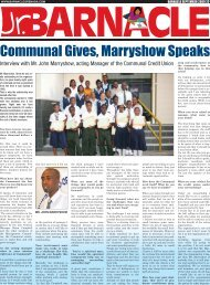 Communal Gives, Marryshow Speaks
